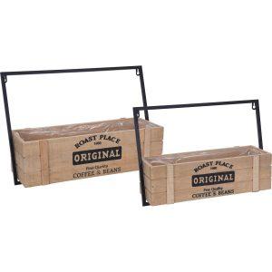 Sada dřevěných držáků na truhlíky Original