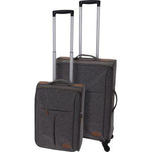 Sada textilních kufrů na kolečkách 2 ks