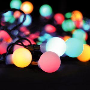 Solight Světelný venkovní řetěz 100 LED s dálkovým ovladačem
