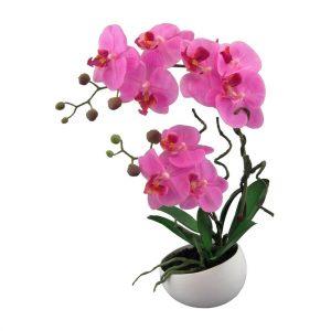 Umělá Orchidej v květináči růžová