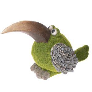 Zahradní dekorace Mechový ptáček
