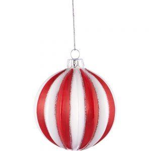 HANG ON Vánoční koule reliéf 8 cm set 6 ks
