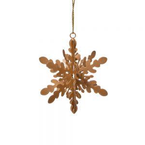 HANG ON Vánoční ozdoby sněhová vločka kovová set 4 ks