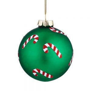 HANG ON Vánoční koule cukrové hůlky set 4 ks