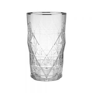 UPSCALE Sklenice na long drink se stříbrným okrajem 460 ml - 6 ks