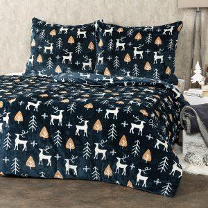 4Home Vánoční povlečení mikroflanel Nordic Deer
