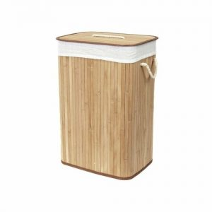 Compactor Bambusový koš na prádlo s víkem Compactor Bamboo - obdélníkový