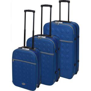 Sada textilních kufrů na kolečkách 3 ks