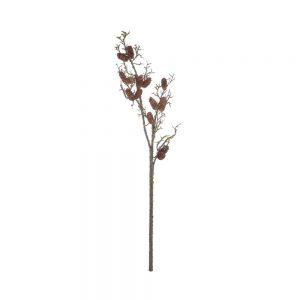FLORISTA Větvička s pravými šiškami 126 cm