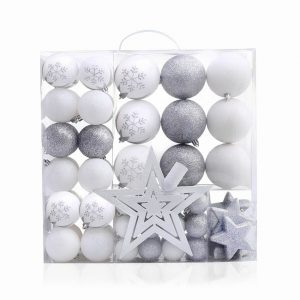 DecoKing Sada vánočních ozdob Lux bílá