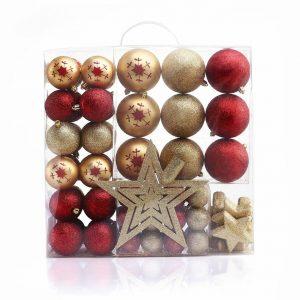 DecoKing Sada vánočních ozdob Susi zlatá