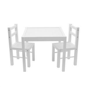 New Baby Dětská dřevěná sada stolečku a židliček 3 ks