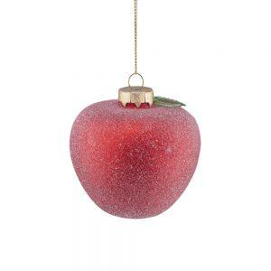 HANG ON Sada vánočních ozdob jablko 8 cm set 6 ks