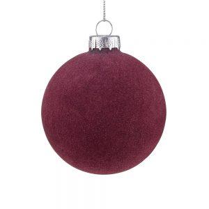 HANG ON Vánoční koule 8 cm set 6 ks - bordó