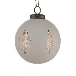 HANG ON Vánoční koule stromek 8 cm set 6 ks - šedá