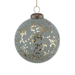 HANG ON Vánoční koule flitry 8 cm set 6 ks - zlatá