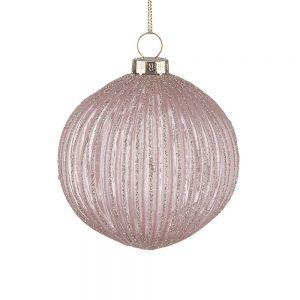HANG ON Vánoční koule 8 cm set 6 ks - růžová/zlatá