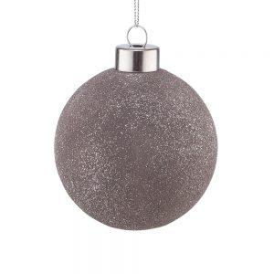 HANG ON Vánoční koule třpytivé 8 cm set 6 ks - béžová