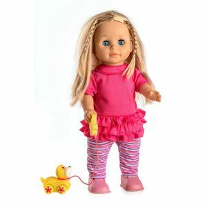 Teddies Mluvící a chodící panenka Sofinka s pejskem