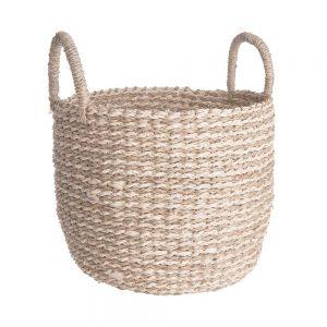 BASIC BRAID Úložný košík s úchyty pletený vel. M