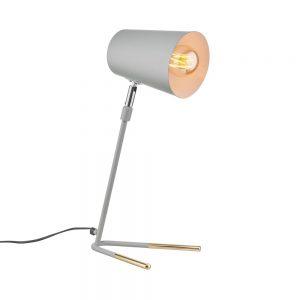 LUXA Stolní lampa 47 cm - šedá/zlatá