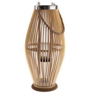 Bambusová lucerna se sklem Delgada