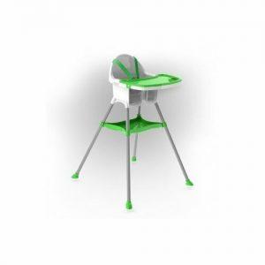 DOLONI Dětská jídelní židlička bílo-zelená