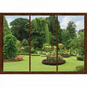 AG Art Fototapeta XXL Okno do zahrady 360 x 270 cm