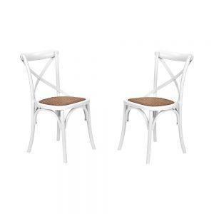 CROSS COUNTRY Židle set 2 ks - bílá