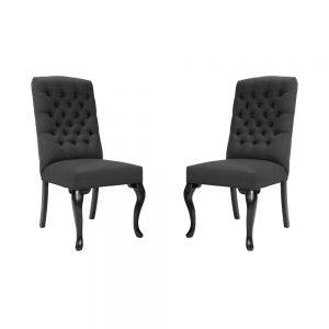 LILOU Židle set 2 ks - antracitová