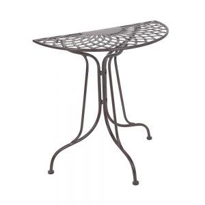 MANDALA GARDEN Stůl půlkruhový - tm. hnědá