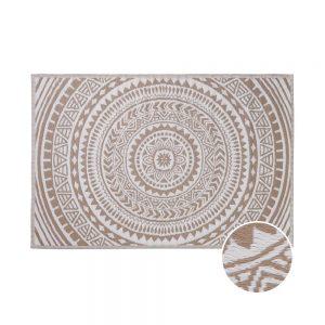 COLOUR CLASH Vnitřní a venkovní koberec kruhy 180 x 118 cm - béžová