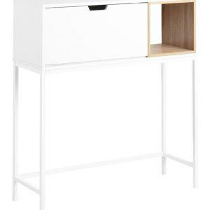 SCANDI Bílý dřevěný sekretář Seattle 92 x 100 cm
