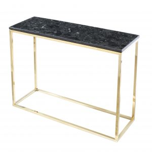 Černý žulový toaletní stolek RGE Accent se zlatou podnoží 100 cm