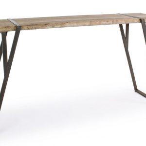 Dřevěný barový stůl Bizzotto Blocks 200x54 cm