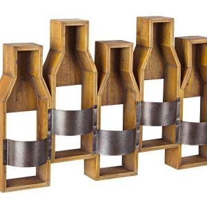 Dřevěný nástěnný stojan na lahve Bizzotto Cru