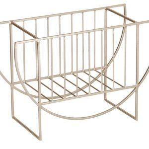 Zlatý kovový stojan na časopisy LaForma Aubrey