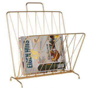 Time for home Zlatý stojan na časopisy Casner