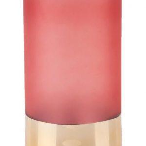 Time for home Růžová skleněná váza Ademarine 20 cm