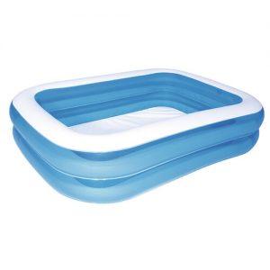 Bestway Modrý čtyřhranný rodinný bazén