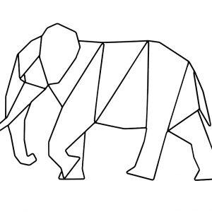 Nordic Design Černá nástěnná kovová dekorace Ades Elephant