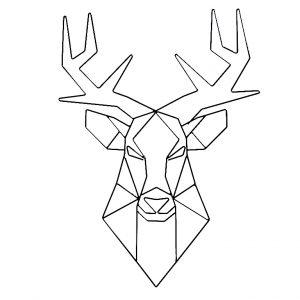 Nordic Design Černá nástěnná kovová dekorace Ades Deer