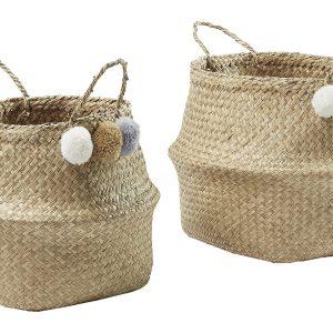 Set dvou přírodních slaměných košíků LaForma Sofly