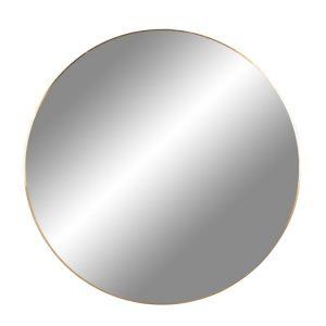 Nordic Living Zlaté kulaté závěsné zrcadlo Vincent 80 cm