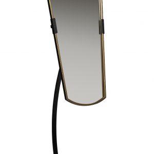 Hoorns Černé kovové stojací zrcadlo June 166 cm