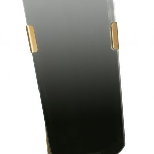 Hoorns Černé kovové zrcadlo June 41 cm