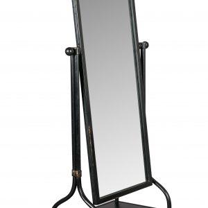 Černé sklopné zrcadlo se zásuvkou DUTCHBONE Gubo