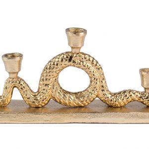 Zlatý kovový svícen BOLD MONKEY KEEP THE SNAKES AWAY DINNER