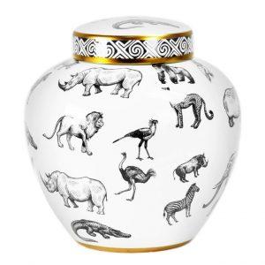 Bílá porcelánová váza Bizzotto Africa