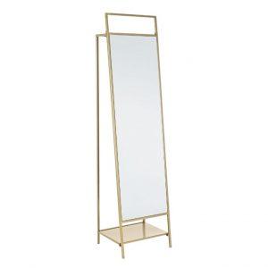 Zlaté kovové stojací zrcadlo Bizzotto Ekbal 181